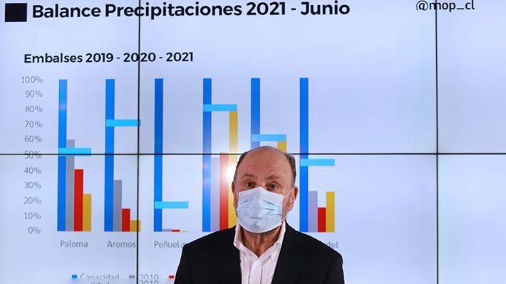 """MOP entrega balance hídrico hasta junio y pronóstico para este invierno: """"Es un año similar al más seco en la historia"""""""